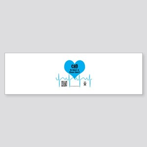 CHD Heartbeat Bumper Sticker